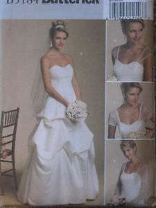 Misses Bridal Wedding Dress Gown Pattern B5184~8 22
