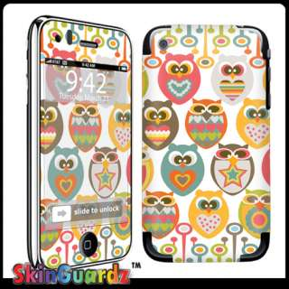 Owl Decal Skin Sticker Cover IPHONE 3G 3GS Case
