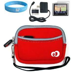 Magellan Maestro GPS Red Neoprene Carrying Case for Magellan Maestro