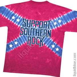 New LYNYRD SKYNYRD Southern Cross Tie Dye T Shirt