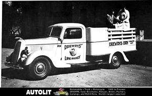 1937 Ford 1/2 Ton Stake Bed Truck Factory Photo