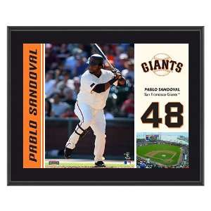 San Francisco Giants Pablo Sandoval 10 1/2 x 13 Sublimated