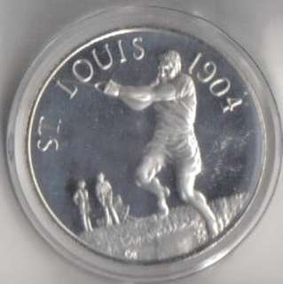 SILVER MEDAL ~ HISTORY OF THE OLYMPIC GAMES   ST LOUIS 1904   No.3
