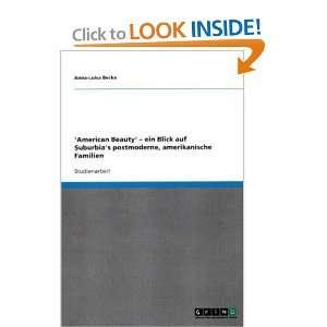 Familien (German Edition) (9783640622818) Anna Luisa Becke Books