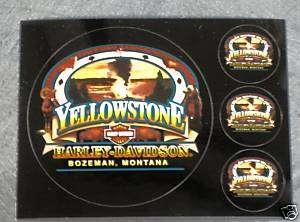 Yellowstone Harley Davidson Old Faithful Decal Postcard