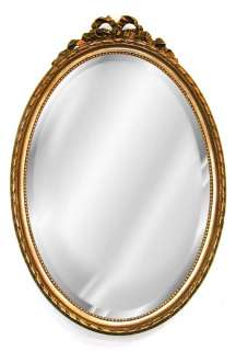 Medium Oval Bow Mirror 30 Old World Finishes