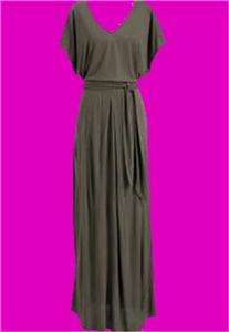 Old Navy Womens Tie belt Jersey Maxi Dress Burgundy or Taupe NEW w