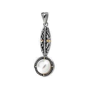 Freshwater Cultured Pearl Pendant/Sterling Silver Jewelry