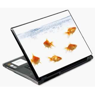 Universal Laptop Skin Decal Cover   Frisky Gold Fish