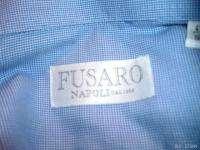 FUSARO NAPOLI ITALY 1893 BLUE LS bd SHIRT 16 41 L