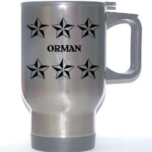 Personal Name Gift   ORMAN Stainless Steel Mug (black