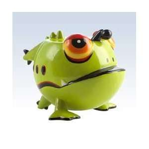 Silly Saver Ceramic Frugal Frog Money Bank: Toys & Games