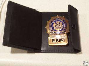 NYPD Detective Style Badge Cut Out/ID Card Snap Wallet