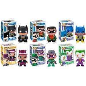 Funko Batman Pop Heroes 6 Piece Vinyl Figure Set