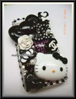 HELLO KITTY IPHONE 4g 4s 4 black BLING CELL PHONE CASE COVER