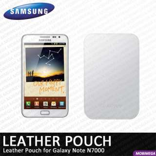 EFC 1E1LWECSTD Leather Pouch Case Cover Galaxy Note N7000 White