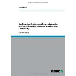von Canterbury (German Edition) (9783638793605) Sara Stöcklin Books