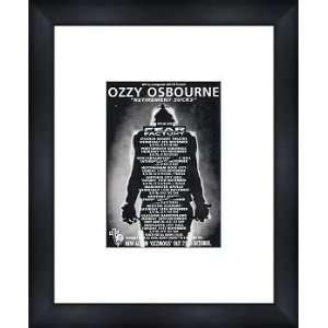 OZZY OSBOURNE UK Tour 1995   Custom Framed Original Ad