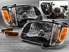 01 04 TACOMA PICKUP BLACK HEAD LIGHTS+JDM AMBER CORNER BUMPER+SIGNAL