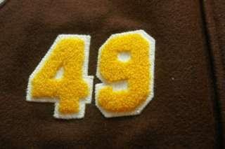 NWT ADIDAS original Varsity Leather Letterman Jacket Sz L Jeremy Scott