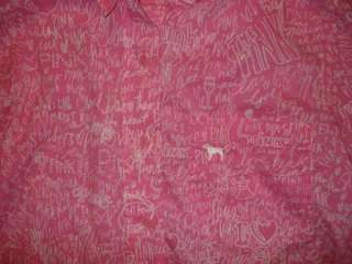 Victorias Secret PINK junior night shirt top medium Cute