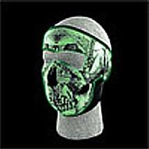 NEW* Glow In The Dark Skull Design. Great For Night Time Riding