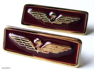 Canada Canadian Forces Para Airborne wing Gold and maroon metal