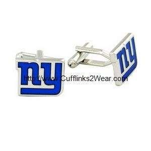 New York Giants NFL Logo Emblem Cufflinks with Box J2x3