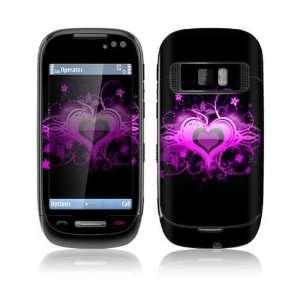 Nokia C7 Decal Skin   Glowing Love Heart
