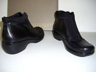 EASY SPIRIT NEAS Black Leather Womens Shoes Ankle Boots US Size 6W