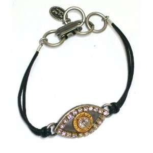 Michal Golan Sterling Silver and 24k Gold Plated Evil Eye
