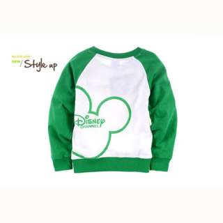 Green Boys Mickey Mouse Long Sleeve T Shirt 2 8 Years AF2011