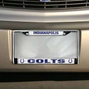 Indianapolis Colts Silver Metal License Plate Frame