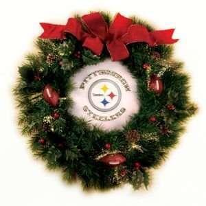 NFL Pittsburgh Steelers Fiber Optic Wreath 24 Sports