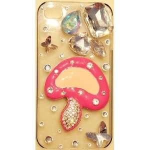 Cute Deep PINK MUSHROOM Case for iPhone 4 & 4S Verizon
