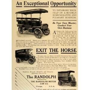 1909 Vintage Ad Randolph Motor Car Bus Delivery Truck