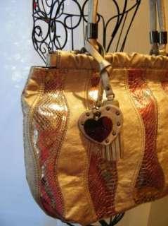 bag purse handbag SATCHEL pocketbook HOBO BLACK 181358 WAVE PATCHWORK