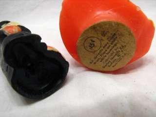 PR VINTAGE GURLEY HALLOWEEN CANDLES WITCH BLACK CAT