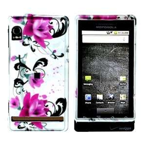 Motorola Droid A855 855 Pink Flower On White Hard Case