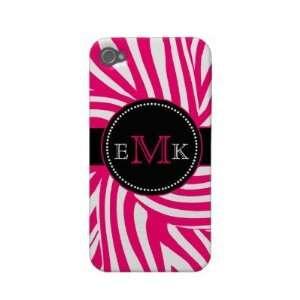 Hot Pink Zebra Print iPhone 4 Case Mate Cell Phones