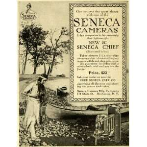 1917 Ad 2C Seneca Chief Camera Native American Indian