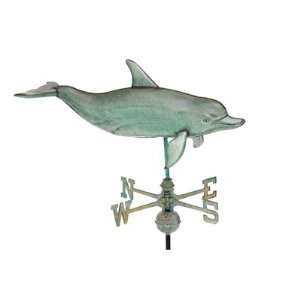 Extra Large Antique Copper Nautical 3 D Dolphin Full Size