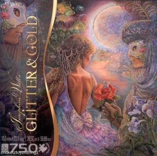 NEW Glitter & Gold Jigsaw Puzzle Set MASQUE OF LOVE HONEYSUCKLE
