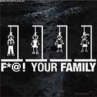 YOUR FAMILY Hanging noose Making My Stick Figure Car window