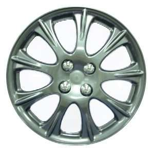 Plastic Wheel Cover, Dark Gunmetal Color With Shiny Lacquer Coating