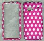 white polka dots verizon HTC Droid Incredible 6300 hard protector case