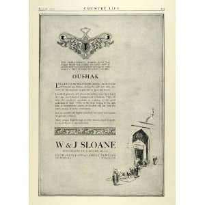 1923 Ad W&J Sloane Eastern Rugs Oushak Motif Antiques Vintage Home