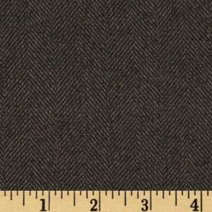 60 Wide Herringbone Suiting Dark Gray Fabric By The Yard