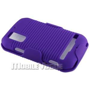 Clip Holster Stand Hard Case Cover for Motorola Photon 4G MB855 Purple