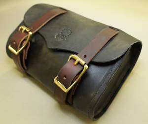 Chopper Harley Motorcycle Leather Saddle Bag Tool Roll1